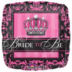 """ΜΠΑΛΟΝΙ FOIL ΓΙΑ BATCHELOR PARTY ΚΟΡΩΝΑ """"Bride To Be"""" 18'' – ΚΩΔ.:524549-BB"""