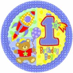 ΜΠΑΛΟΝΙ FOIL ΓΕΝΕΘΛΙΩΝ «1st Birthday Boy» ΜΕ ΑΡΚΟΥΔΑΚΙ 45cm – ΚΩΔ.:111017-BB