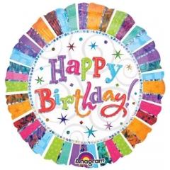 ΜΠΑΛΟΝΙ ΙΡΙΔΙΖΟΝ FOIL ΓΕΝΕΘΛΙΩΝ «Happy Birthday» 81cm – ΚΩΔ.:119981-BB
