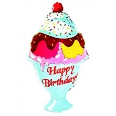 ΜΠΑΛΟΝΙ FOIL ΓΕΝΕΘΛΙΩΝ SUPERSHAPE «Happy Birthday» ΠΑΓΩΤΟ 70x45cm – ΚΩΔ.:15710-BB