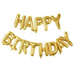 ΜΠΑΛΟΝΙ FOIL ΓΕΝΕΘΛΙΩΝ ΧΡΥΣΟ «Happy Birthday» 40cm – ΚΩΔ.:207117-BB