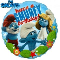 ΜΠΑΛΟΝΙ FOIL ΓΕΝΕΘΛΙΩΝ «Have a Smurfy Birthday» ΜΕ ΣΤΡΟΥΜΦΑΚΙΑ 45cm – ΚΩΔ.:524157-BB
