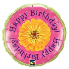 ΜΠΑΛΟΝΙ FOIL ΓΕΝΕΘΛΙΩΝ «Happy Birthday» ΜΕ ΛΟΥΛΟΥΔΙ 45cm – ΚΩΔ.:68792-BB