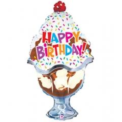 ΜΠΑΛΟΝΙ FOIL ΓΕΝΕΘΛΙΩΝ SUPERSHAPE ΠΑΓΩΤΟ «Happy Birthday» 81cm – ΚΩΔ.:85353-BB