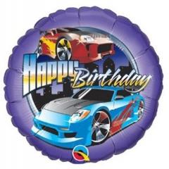ΜΠΑΛΟΝΙ FOIL ΓΕΝΕΘΛΙΩΝ «Happy Birthday» ΜΕ ΓΡΗΓΟΡΑ ΑΜΑΞΙΑ 45cm – ΚΩΔ.:99097-BB