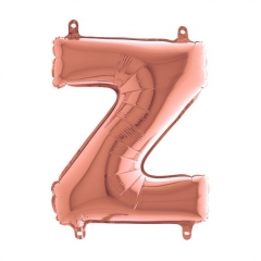 ΜΠΑΛΟΝΙ FOIL ΡΟΖ-ΧΡΥΣΟ 35cm ΓΡΑΜΜΑ Z – ΚΩΔ.:144523RG-BB