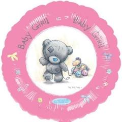 ΜΠΑΛΟΝΙ FOIL 45cm ΓΙΑ ΓΕΝΝΗΣΗ «Baby Girl» ΜΕ ΡΟΖ ΑΡΚΟΥΔΑΚΙ – ΚΩΔ.:520534-BB