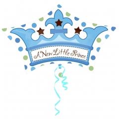 ΜΠΑΛΟΝΙ FOIL 38x61cm ΓΙΑ ΓΕΝΝΗΣΗ JUNIORSHAPE «A Little Prince» ΜΠΛΕ ΚΟΡΩΝΑ – ΚΩΔ.:533654-BB