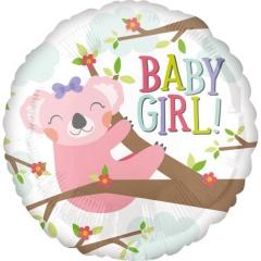 ΜΠΑΛΟΝΙ FOIL 45cm ΓΙΑ ΓΕΝΝΗΣΗ «Baby Girl» ΚΟΑΛΑ – ΚΩΔ.:535601-BB