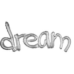 ΜΠΑΛΟΝΙ FOIL ΑΣΗΜΙ 93x45cm SUPERSHAPE ΕΝΩΜΕΝΗ ΦΡΑΣΗ ''DREAM'' – ΚΩΔ.:536703-BB
