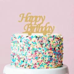 ΔΙΑΚΟΣΜΗΤΙΚΟ TOPPER HAPPY BIRTHDAY ΧΡΥΣΟ 18CM - ΚΩΔ:D15016-15-BB