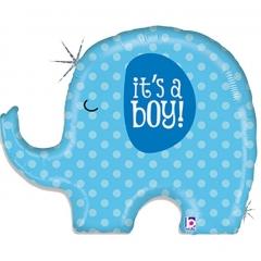 ΜΠΑΛΟΝΙ FOIL 81cm ΓΙΑ ΓΕΝΝΗΣΗ SUPERSHAPE «It's a Boy» ΕΛΕΦΑΝΤΑΚΙ – ΚΩΔ.:35585-BB