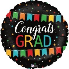 ΜΠΑΛΟΝΙ FOIL 45cm ΓΙΑ ΑΠΟΦΟΙΤΗΣΗ Congrats Grad ΜΠΑΝΕΡ – ΚΩΔ.:36545P-BB