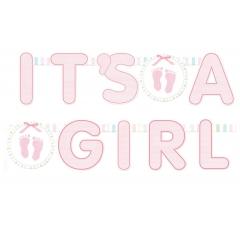BANNER 'ITS A GIRL' - ΚΩΔ:129079-BB