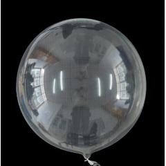 ΜΠΑΛΟΝΙ FOIL 24''(61cm)  ΕΝΤΥΠΩΣΙΑΚΟ ΔΙΑΦΑΝΟ Bubble – ΚΩΔ.:206315-BB