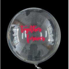 """ΜΠΑΛΟΝΙ FOIL 18""""(45cm) ΕΝΤΥΠΩΣΙΑΚΟ ΔΙΑΦΑΝΟ Bubble ΜΕ ΑΥΤΟΚΟΛΛΗΤΟ «Toghether Forever» – ΚΩΔ.:206318d-BB"""