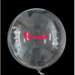 """ΜΠΑΛΟΝΙ FOIL 18""""(45cm) ΕΝΤΥΠΩΣΙΑΚΟ ΔΙΑΦΑΝΟ Bubble ΜΕ ΑΥΤΟΚΟΛΛΗΤΟ «Be Mine» – ΚΩΔ.:206318b-BB"""
