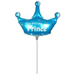 ΜΠΑΛΟΝΙ FOIL MINI SHAPE (38x42cm) «Happy Birthday Prince»– ΚΩΔ.:207160-BB