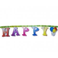 BANNER HAPPY BDAY ΜΕ ΜΠΑΛΟΝΙΑ - ΚΩΔ:3450113-BB
