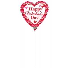"""ΜΠΑΛΟΝΙ FOIL MINI SHAPE 9""""(23cm) «Happy Valentine's Day»– ΚΩΔ.:529915-BB"""