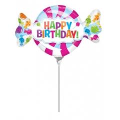 ΜΠΑΛΟΝΙ FOIL MINI SHAPE 33x20cm «Happy BIrthday» ΜΕ ΓΛΥΦΙΤΖΟΥΡΙΑ – ΚΩΔ.:532622-BB