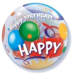 """ΜΠΑΛΟΝΙ FOIL 22""""(56cm) ΜΠΑΛΟΝΙΑ «Happy Birthday»  Bubble ΜΟΝΟ – ΚΩΔ.:68651-BB"""