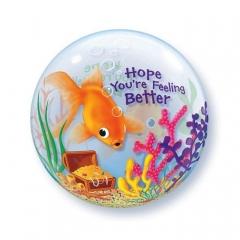 """ΜΠΑΛΟΝΙ FOIL 22""""(56cm) ΨΑΡΑΚΙ «Hope You're Feeling Better» Bubble ΜΟΝΟ – ΚΩΔ.:68653-BB"""