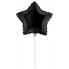 """ΜΠΑΛΟΝΙ FOIL 10""""(25cm) MINI SHAPE ΑΣΤΕΡΙ ΜΑΥΡΟ – ΚΩΔ.:09204K-BB"""