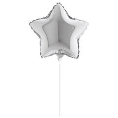 """ΜΠΑΛΟΝΙ FOIL 5""""(12cm) MINI SHAPE ΑΣΤΕΡΙ ΑΣΗΜΙ – ΚΩΔ.:207128-BB"""