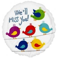 ΜΠΑΛΟΝΙ FOIL 43cm ΠΟΥΛΑΚΙΑ «We'll Miss You»– ΚΩΔ.:533689-BB