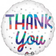 ΜΠΑΛΟΝΙ FOIL 43cm ΛΕΥΚΟ ΜΕ ΚΟΥΚΙΔΕΣ «Thank You»– ΚΩΔ.:534548-BB