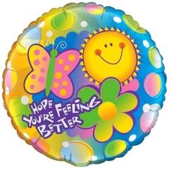 ΜΠΑΛΟΝΙ FOIL 45cm «Hope You're Feeling Better» – ΚΩΔ.:72927-BB