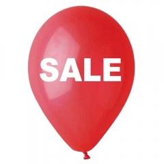 """ΤΥΠΩΜΕΝΑ ΜΠΑΛΟΝΙΑ LATEX «Sale» ΚΟΚΚΙΝΑ 12"""" (30cm) – ΚΩΔ.:135120008-BB"""