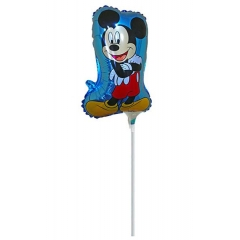 ΜΠΑΛΟΝΙ FOIL 27x49cm MINI SHAPE MICKEY MOUSE ΜΠΛΕ – ΚΩΔ.:207157-BB