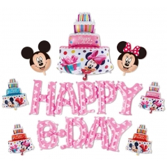 ΜΠΑΛΟΝΙ ΣΕΤ «Happy Bday» ΡΟΖ MICKEY MOUSE – KOD.:207171-BB
