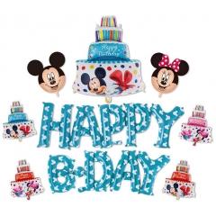 ΜΠΑΛΟΝΙ ΣΕΤ «Happy Bday» ΓΑΛΑΖΙΟ MICKEY MOUSE – KOD.:207172-BB