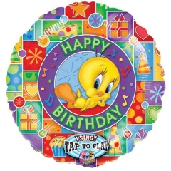 ΜΠΑΛΟΝΙ FOIL 71cm TWEETY SING-A-TUNE «Happy Birthday» - ΚΩΔ.:512904-BB