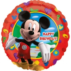 ΜΠΑΛΟΝΙ FOIL 45cm MICKEY'S CLUBHOUSE «Happy Birthday» – ΚΩΔ.:514055-BB
