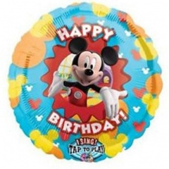 ΜΟΥΣΙΚΟ ΜΠΑΛΟΝΙ FOIL 71cm MICKEY MOUSE «Happy Birthday» – ΚΩΔ.:516168-BB