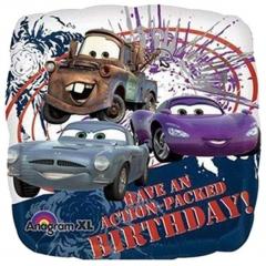 ΜΠΑΛΟΝΙ FOIL 45cm CARS DISNEY ΤΕΤΡΑΓΩΝΟ «Happy Birthday» – KOD.:522310-BB