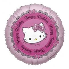 ΜΠΑΛΟΝΙ FOIL 45cm HELLO KITTY «Happy Birthday»– ΚΩΔ.:525689-BB