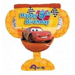 ΜΠΑΛΟΝΙ FOIL 66x69cm SUPER SHAPE CARS ΚΥΠΕΛΛΟ «Happy 5th Birthday» – ΚΩΔ.:526391-BB