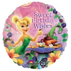ΜΠΑΛΟΝΙ FOIL 45cm TINKERBELL «Sweet Birthday Wishes» - ΚΩΔ.:526557-BB