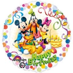 ΜΠΑΛΟΝΙ FOIL 45cm MICKEY ΚΑΙ ΦΙΛΟΙ «Happy Birthday» – ΚΩΔ.:529007-BB