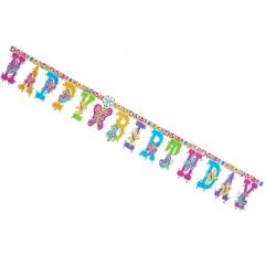 ΧΑΡΤΙΝΟ BANNER HAPPY BIRTHDAY ΠΕΤΑΛΟΥΔΕΣ - ΚΩΔ:5581712-3-BB