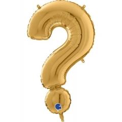ΜΠΑΛΟΝΙ FOIL ΧΡΥΣΟ 66cm ΣΥΜΒΟΛΟ ? – ΚΩΔ.:26552G-BB