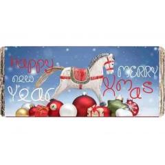 ΧΡΙΣΤΟΥΓΕΝΝΙΑΤΙΚΗ ΣΟΚΟΛΑΤΑ ΚΟΥΝΙΣΤΟ ΑΛΟΓΟ 'HAPPY NEW YEAR' - ΚΩΔ:XS1501-24-BB