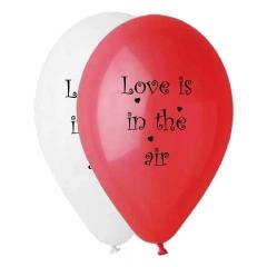 ΡΟΖ ΚΑΙ ΛΕΥΚΑ ΜΠΑΛΟΝΙΑ ΤΥΠΩΜΕΝΑ «Love Is In The Air» 13'' (33cm) – ΚΩΔ.:13613283-BB