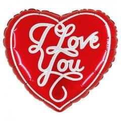 """ΜΠΑΛΟΝΙ FOIL 36""""(91cm) ΚΑΡΔΙΑ ΚΟΚΚΙΝΗ «I Love You» – ΚΩΔ.:227628h36-BB"""