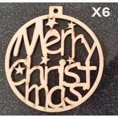 ΓΟΥΡΙ ΞΥΛΙΝΗ ΜΠΑΛΑ MERRY CHRISTMAS 8ΕΚΑΤ. - ΚΩΔ:X06-8-DV